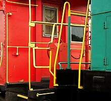 Abstract Caboose by Rodney Williams