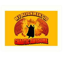 Chaotic Awesome Art Print