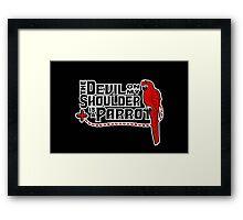 Shoulder Devil Parrot Framed Print