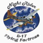 B-17 Flying Fortress Night Rider by hotcarshirts