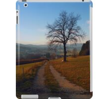 Tree, trail and indian summer evening | landscape photography iPad Case/Skin