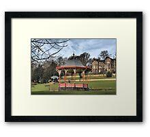 Arboretum Bandstand, Lincoln HDR Framed Print