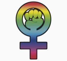 Women's Power / Feminist Symbol 3 Rainbow by 321Outright