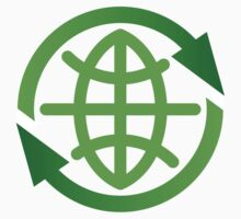 Abstract earth recycling symbol by Mhea