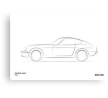 Design Lines - Datsun 240Z Canvas Print