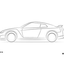 Design Lines - Nissan GT-R by bpotstra