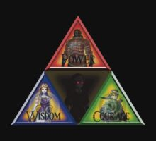 Triforce - Wisdom, Courage, Power by LegendDestroye