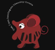 Unidentified animal Having an Identity crisis, vector text Tee by walstraasart