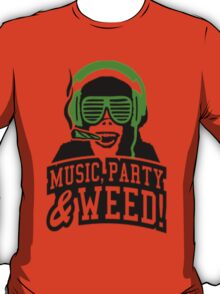 Music Party Weed 3 T-Shirt