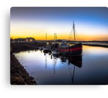 Irvine Harbour at Dusk Canvas Print