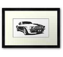 Mustang GT500 Graphic Framed Print