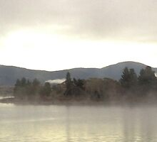 Panoramic - Jindabyne Lake Winter Morning by James Toh