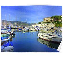 Cap Ferrat Boats Poster