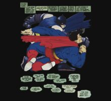 Batman punches Superman by Rheymisson