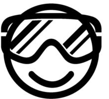 Don't worry, ski happy Sticker