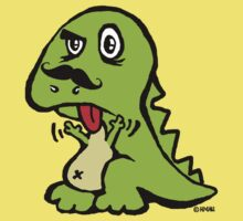 T-rex hates mustache by NewSignCreation