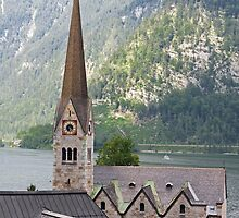 Church in Hallstatt by Cebas