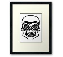 Winter skull Framed Print
