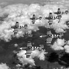 D-Day Mustangs black and white version by Gary Eason + Flight Artworks
