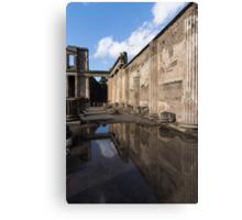 Reflecting on Pompeii Canvas Print