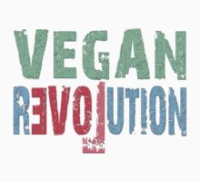 VEGAN REVOLUTION - vegan, vegetarian, animal rights, cruelty to animals Kids Clothes