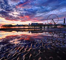 Central Pier Sunset by FyldePhotos