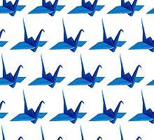 crane origami pattern by Federica Cacciavillani
