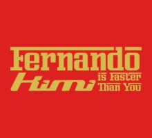 Fernando, Kimi is Faster Than You (Dark Shirts) Yellow Font by oawan