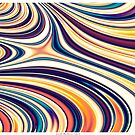Color and Form Abstract - Curved Rounded Lines Flowing  by Leah McNeir