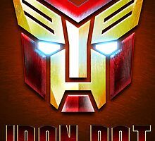 IronBot - Ironman Auto Symbole - Red Poster with Text by EdUnderground
