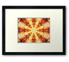 Undulating Tunnels of Molten Light - Abstract Fractal Art Framed Print