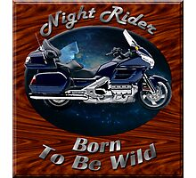 Honda Gold Wing Night Rider Photographic Print