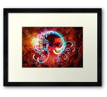 Pearls Brain Framed Print