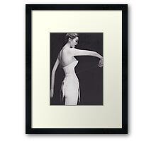 Woman in Corset Framed Print