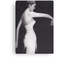 Woman in Corset Canvas Print