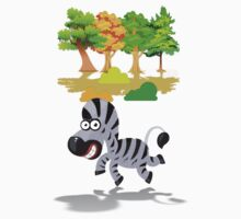 Cute Stuffs Collector's Tee-Shirts and Stickers - Zebra by nhk999