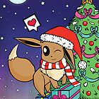 Eevee christmas by SkyColours