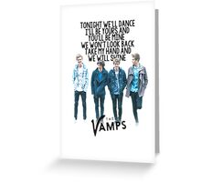 The Vamps - Wild Heart Greeting Card