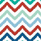 colorful ikat chevron pattern by oksancia