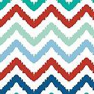 colorful ikat chevron pattern by oksancia