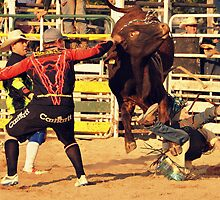 Bull Fighting Clowns.7. by Barbara  Jean