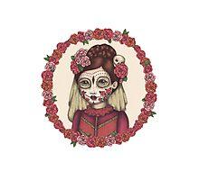 Lace & Rose - Sugarskull sister Photographic Print