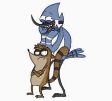 Regular Show Mordecai Rigby by hydekoala