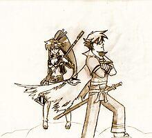 Kamina & Yoko by Xander Player