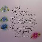 """Rejoice in Hope"" * by Melissa Goza"
