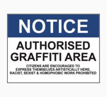 AUTHORISED GRAFFITI AREA by Bundjum