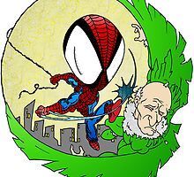 Spider-man VS The Vulture by Skree