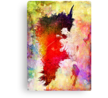 Transitory - Canvas Texture - Abstract Face Canvas Print