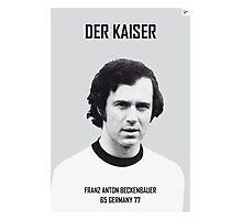 My Beckenbauer soccer legend poster Photographic Print