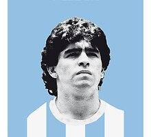 My MARADONA soccer legend poster by Chungkong